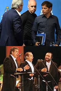 Tres tenores de la cuarentena