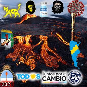 Campaña bajo el volcán contenido
